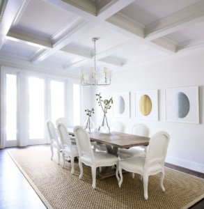 Dining Room in White by MAS Design
