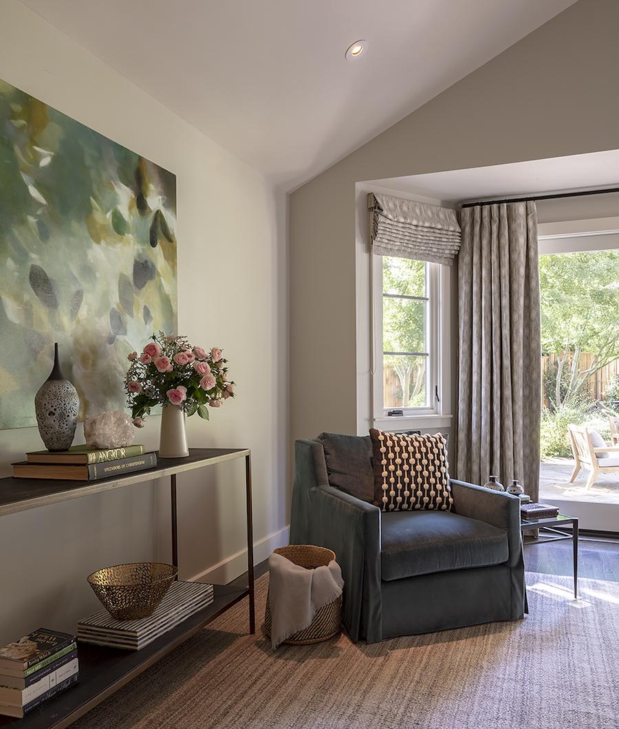 Meditation corner, room painted by Arana Craftsman Painters